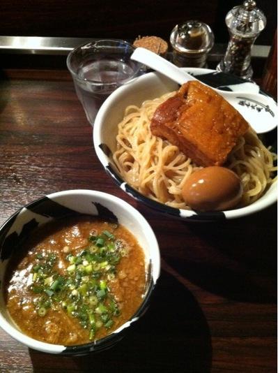 麵屋武蔵無骨 味玉角煮つけ麺.JPG