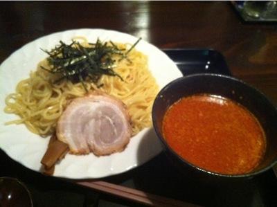 西新宿 もちもちの木 辛味噌つけ麺.JPG