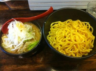 麺処花田 味噌つけ麺+野菜.JPG
