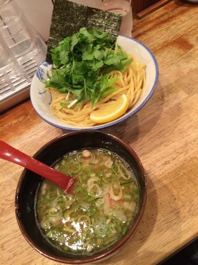パクチーつけ麺.JPG