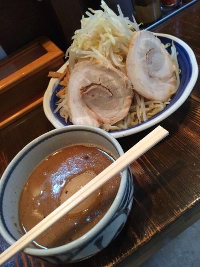 代々木 荒海 特製つけ麺野菜中盛.JPG